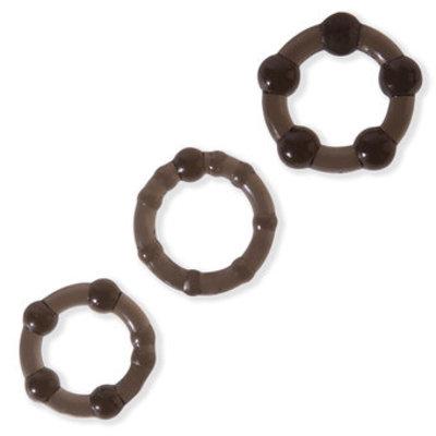 Lovehoney BASICS Triple Cock Ring Set (3 Pack) - Lovehoney BASICS