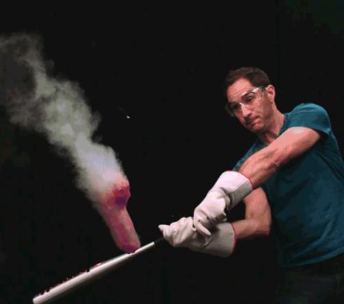When Liquid Nitrogen Meets a Giant Dildo