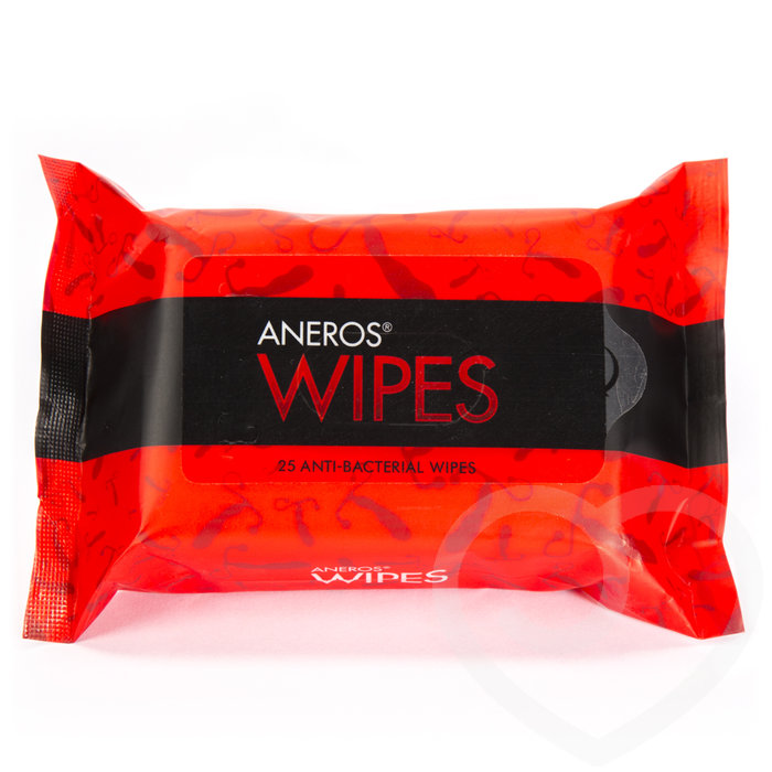 Aneros Antibacterial Sex Toy and Body Wipes (25 Pack) - Aneros