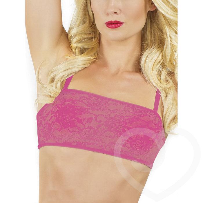 Coquette Hot Pink Lace Bralette - Coquette