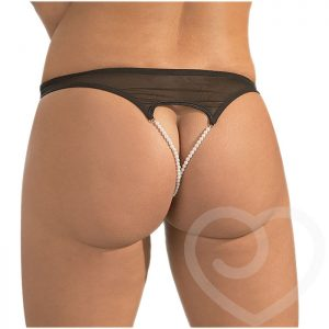 Cottelli Double Pearl Crotchless Briefs - Cottelli