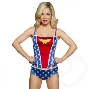 DC Comics Wonder Woman Satin Corset and Shorts Set