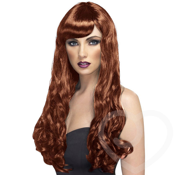 Desire Extra Long Wavy Wig with Fringe - Unbranded