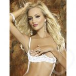 Dreamgirl White Underwired Half Cup Lace Bra - Dreamgirl Lingerie