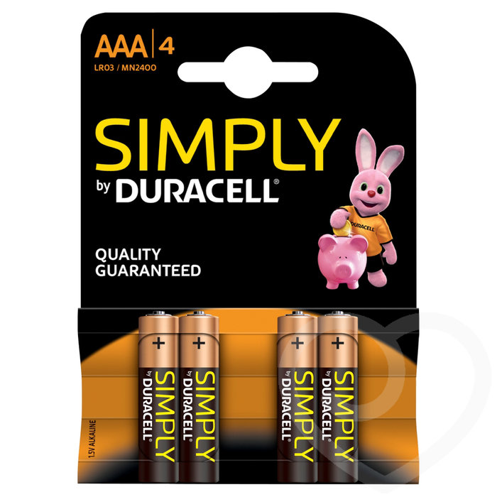 Duracell AAA Batteries (4 Pack) - Duracell