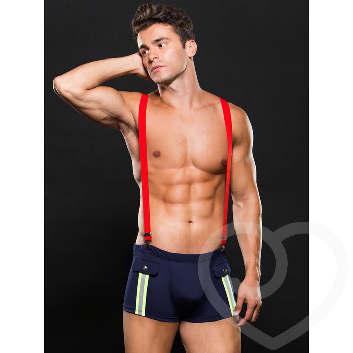 Envy Sexy Fireman Trunk and Braces Set - Envy
