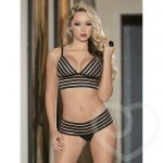 Escante Cage Striped Longline Bra Set - Escante