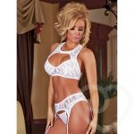 Exposed Angelic Lace 3pc Bra Set - Exposed