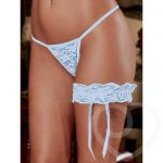 Exposed Lace Garter in Light Blue - Exposed
