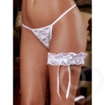 Exposed Lace Garter in White - Exposed