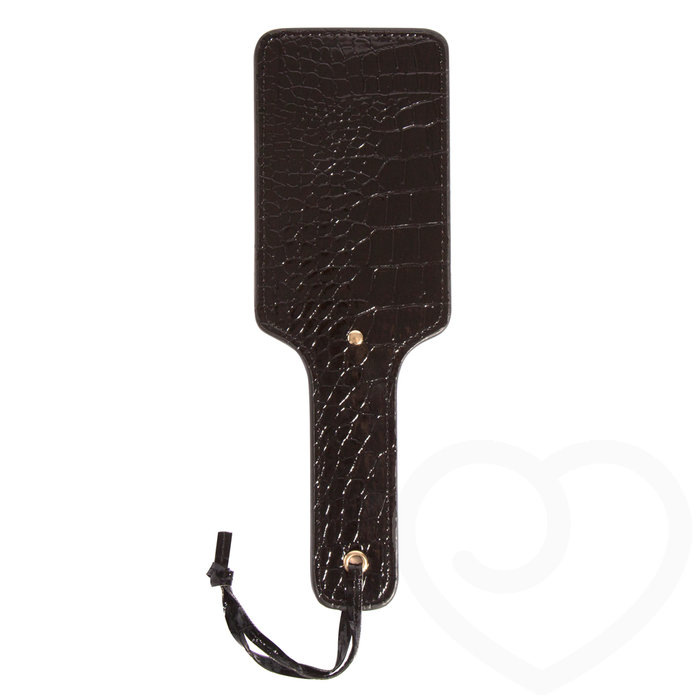Fetish Fantasy Gold Pleasure Faux Crocodile Leather Paddle - Fetish Fantasy