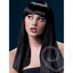 Fever Alexia 19 Inch Long Black Blunt Cut Wig with Fringe - Fever Costumes