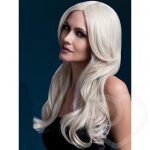 Fever Khloe 26 Inch Long Blonde Wave Wig with Centre Parting - Fever Costumes
