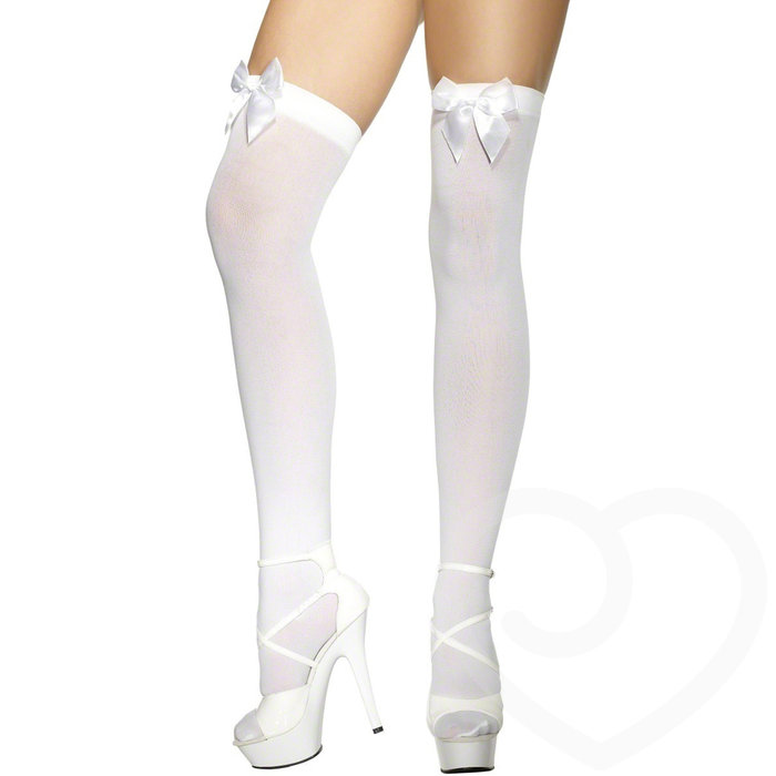 Fever White Stockings with Bow - Fever Costumes