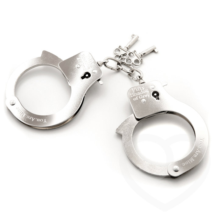 Fifty Shades of Grey You. Are. Mine. Metal Handcuffs - Fifty Shades of Grey