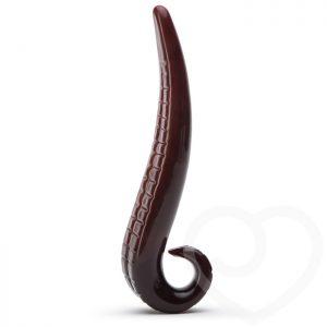 Joyride Textured Devil Tongue Glass Dildo