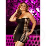 Lapdance Naughty Girl Plus Size Sexy Mini Dress - Lapdance