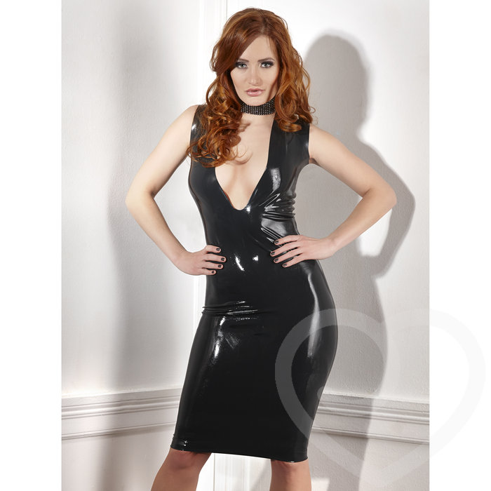 Late X Collection Low Cut Latex Dress - Unbranded