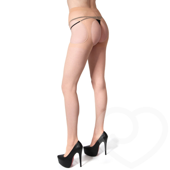 Leg Avenue All-In-One Crotchless Suspender Tights - Leg Avenue