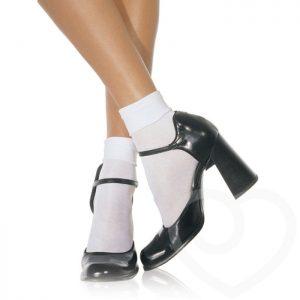 Leg Avenue Schoolgirl White Ankle Socks