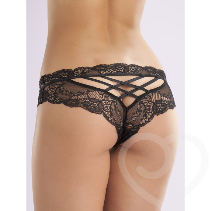 Lovehoney Criss-Cross Crotchless Knickers - Lovehoney Lingerie