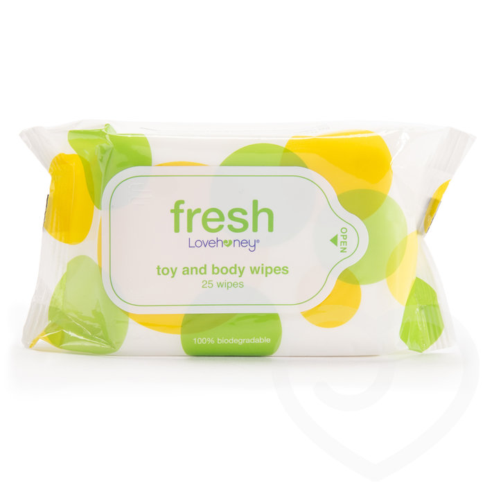 Lovehoney Fresh Biodegradable Sex Toy & Body Wipes (25 Pack) - Lovehoney