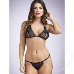 Lovehoney Lace Peek-a-Boo Bra & Crotchless G-String - Lovehoney Lingerie