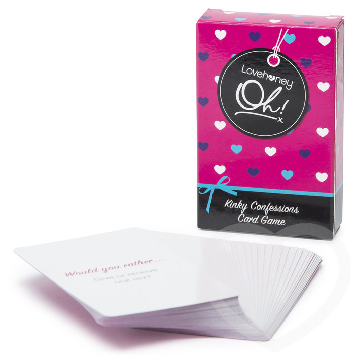 Lovehoney Oh! Kinky Confessions Truth or Dare Card Game (52 Pack) - Lovehoney Oh!