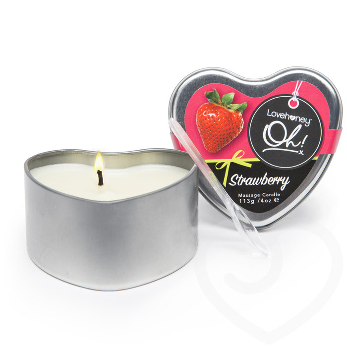 Lovehoney Oh! Strawberry Lickable Massage Candle 113g - Lovehoney Oh!