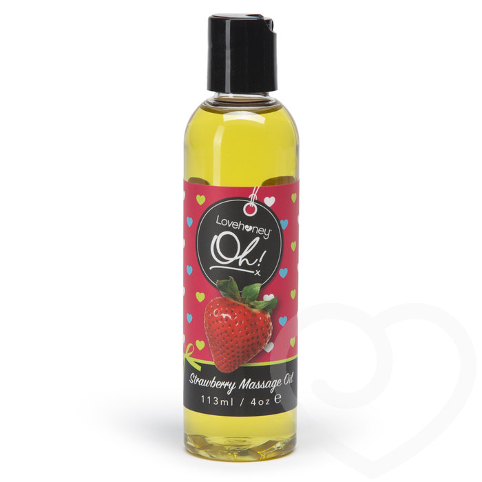 Lovehoney Oh! Strawberry Lickable Massage Oil 113ml - Lovehoney Oh!