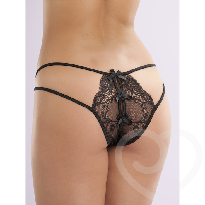 Lovehoney Open-Side Crotchless Knickers - Lovehoney Lingerie