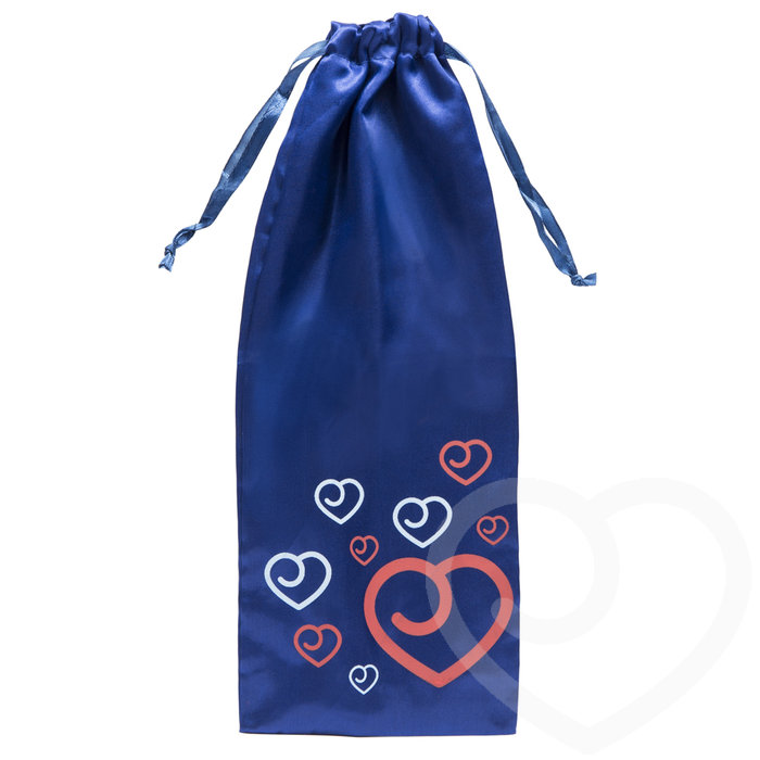 Lovehoney Satin Drawstring Toy Bag Blue - Lovehoney