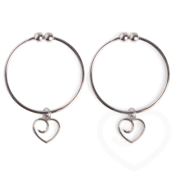 Lovehoney Tease Me Nipple Rings with Heart Charms - Lovehoney