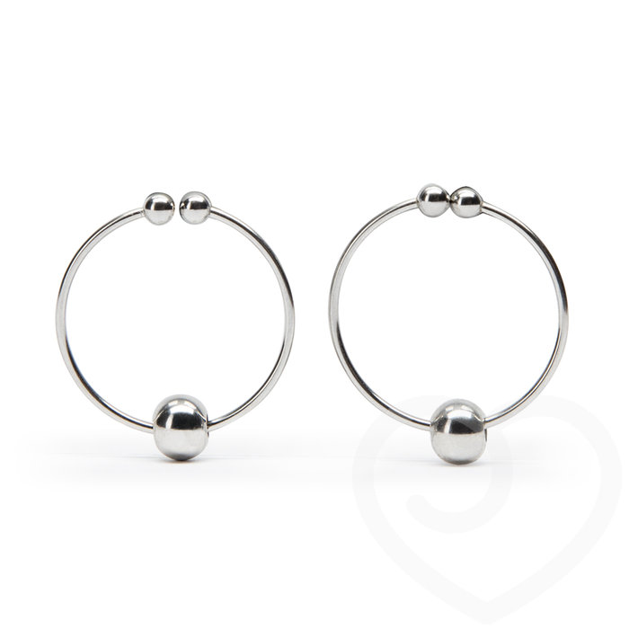 Nipple Ring with Balls (Twin Pack) - Unbranded