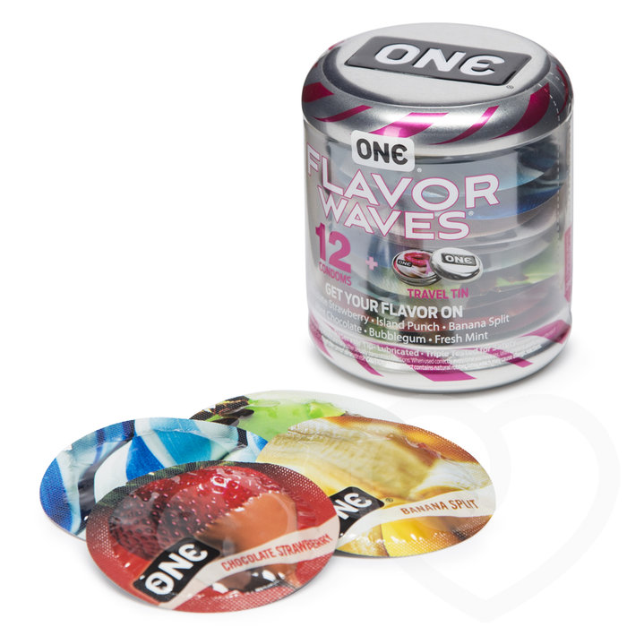 ONE Flavour Waves Condoms (12 Pack) - Unbranded