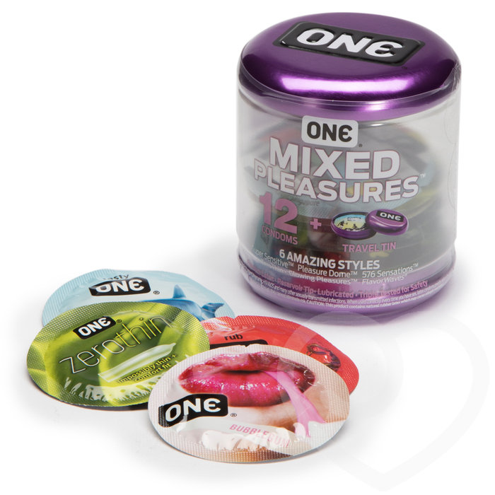 ONE Mixed Pleasures Condoms (12 Pack) - Unbranded