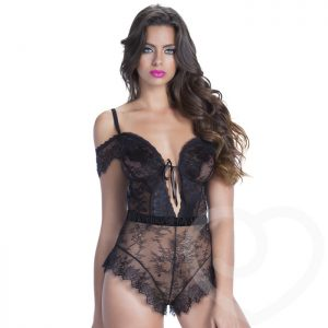 Oh La La Cheri Off The Shoulder Lace Teddy