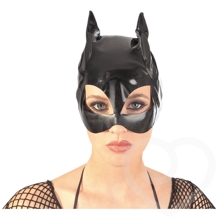 PVC Cat Mask with Ears - Unbranded