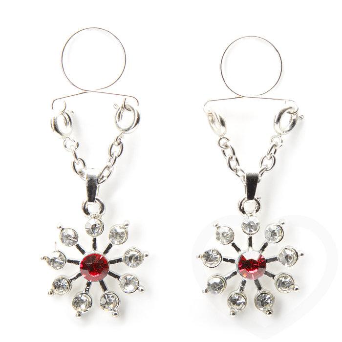 Peekaboos Ruby and Diamond Star Nipple Loops - Unbranded
