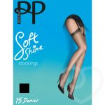 Pretty Polly Soft Shine 15 Denier Barely Black Stockings - Pretty Polly