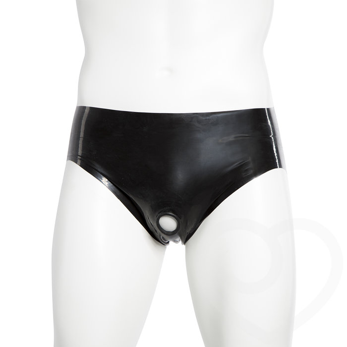 Renegade Rubber Latex Pants with Erection Ring - Renegade Rubber