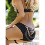 Roza Nude & Black Embroidered Mesh Full Brief - Roza Lingerie