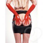 Rubber Girl Latex Wear Rubber Spanking Skirt - Rubber Girl Latex
