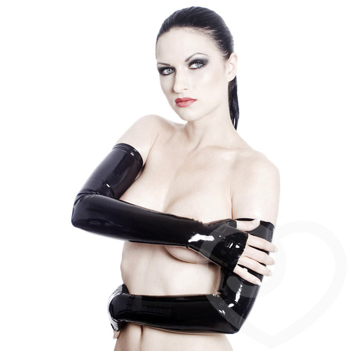 Rubber Girl Latex Wear Shoulder Length Gauntlet Gloves - Rubber Girl Latex