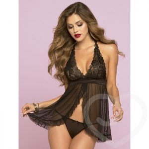 Seven 'til Midnight Sheer Ruffle Babydoll Set