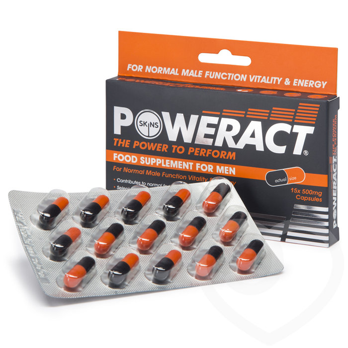 Skins Poweract Performance Pills for Men (15 Capsules) - Unbranded
