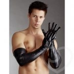 Svenjoyment Wet Look Long Gloves for Men - Svenjoyment