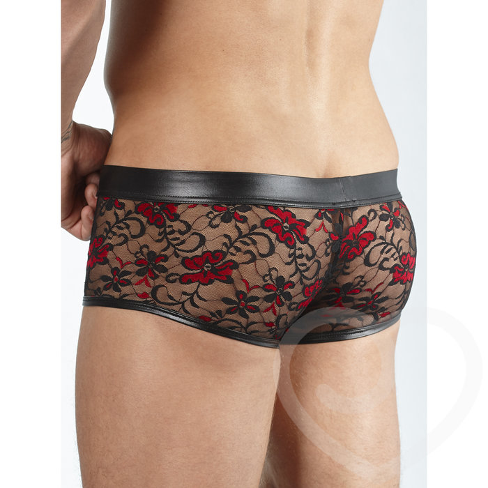 Svenjoyment Wet Look and Lace Boxers - Svenjoyment
