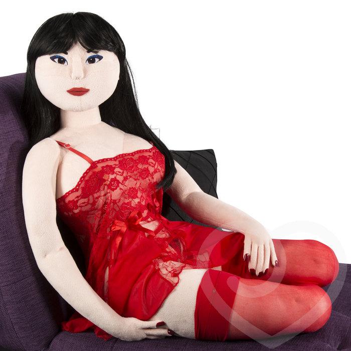 Teddy Babe Plush Sex Doll Akiko (Long Black) 2.8kg - Teddy Babes