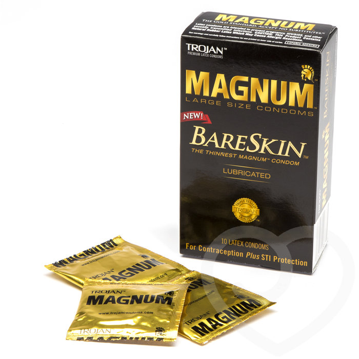Trojan Magnum Large BareSkin Extra Thin Condoms (10 Pack) - Trojan